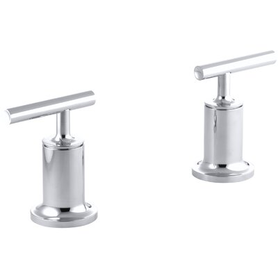Purist Deck- or Wall-Mount High-Flow Bath Trim with Lever Handles Finish: Polished Chrome