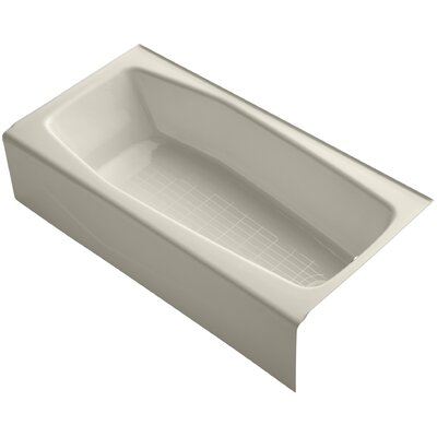 Villager 60 x 30 Soaking Bathtub Finish: Almond, Drain Location: Right