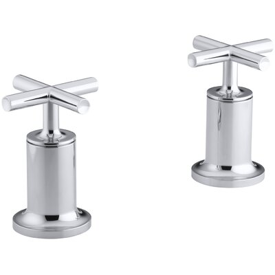 Purist Deck- or Wall-Mount High-Flow Bath Valve Trim with Cross Handle Finish: Polished Chrome