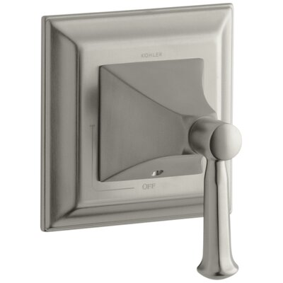 Memoirs Stately Valve Trim with Lever Handle for Volume Control Valve Finish: Vibrant Brushed Nickel K-T10423-4S-BN