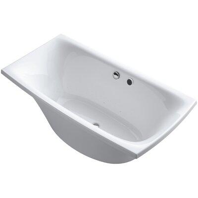 Escale Freestanding Bubblemassage 72 x 36 Soaking Bathtub Finish: White