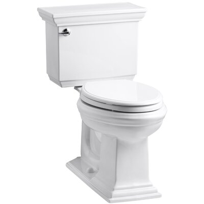 Memoirs Stately 1.28 GPF Elongated Two-Piece Toilet Finish: White