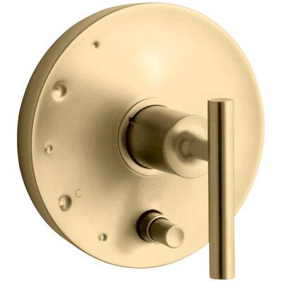 Purist Rite-Temp Pressure-Balancing Valve Trim with Lever Handles Finish: Vibrant Moderne Brushed Gold
