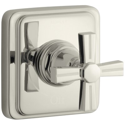 Pinstripe Valve Trim with Cross Handle for Volume Control Valve, Requires Valve Finish: Vibrant Polished Nickel