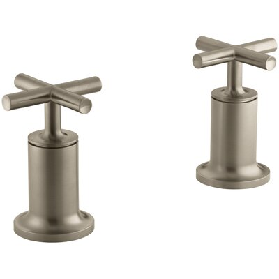 Purist Deck- or Wall-Mount High-Flow Bath Valve Trim with Cross Handle Finish: Vibrant Brushed Bronze