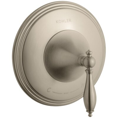 Finial Traditional Valve Trim with Lever Handle for Thermostatic Valve, Requires Valve Finish: Vibrant Brushed Bronze