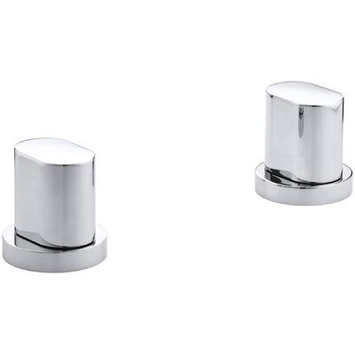 Oblo Deck-Mount Bath Handles Only Finish: Polished Chrome