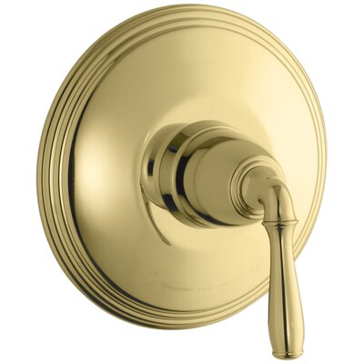 Devonshire Valve Trim for Thermostatic Valve with Lever Handle, Requires Valve Finish: Vibrant Polished Brass