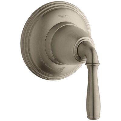 Devonshire Valve Trim for Volume Control Valve with Lever Handle, Requires Valve Finish: Vibrant Brushed Bronze