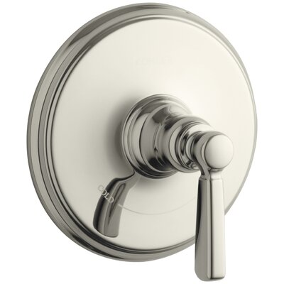 Bancroft Valve Trim with Metal Lever Handle for Thermostatic Valve, Requires Valve Finish: Vibrant Polished Nickel