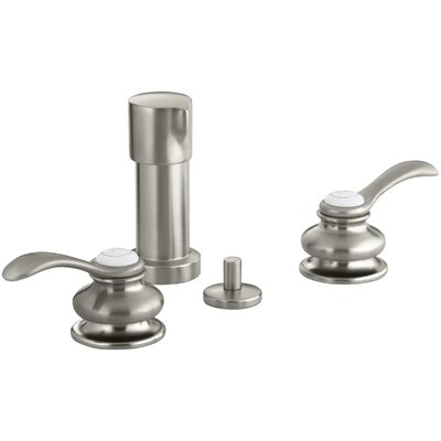 Fairfax Vertical Spray Bidet Faucet with Lever Handles Finish: Vibrant Brushed Nickel