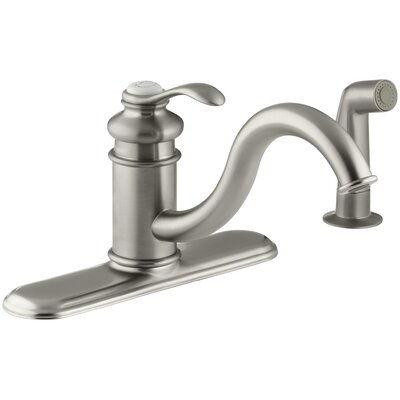 Fairfax 3 Hole Kitchen Sink Faucet with 9 Spout Finish: Vibrant Brushed Nickel