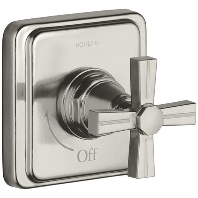 Pinstripe Valve Trim with Cross Handle for Volume Control Valve, Requires Valve Finish: Vibrant Brushed Nickel