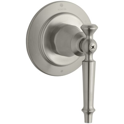 Antiquevalve Trim for Transfer Valve with Lever Handle, Requires Valve Finish: Vibrant Brushed Nickel K-T10113-4-BN