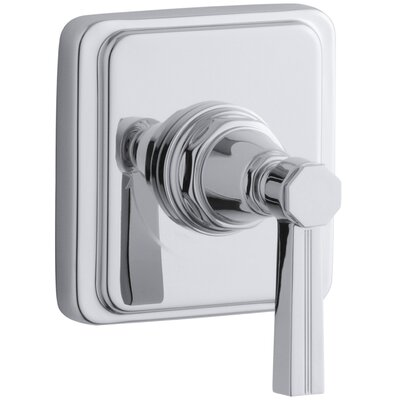 Pinstripe Valve Trim with Lever Handle for Volume Control Valve, Requires Valve Finish: Polished Chrome