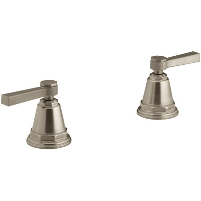 Pinstripe Pure Deck-Mount High-Flow Bath Valve Trim with Lever Handles, Handles Only, Valve Not Included Finish: Vibrant Brushed Bronze