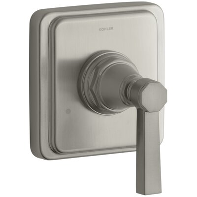 Pinstripe Valve Trim with Pure Design Lever Handle for Transfer Valve, Requires Valve Finish: Vibrant Brushed Nickel
