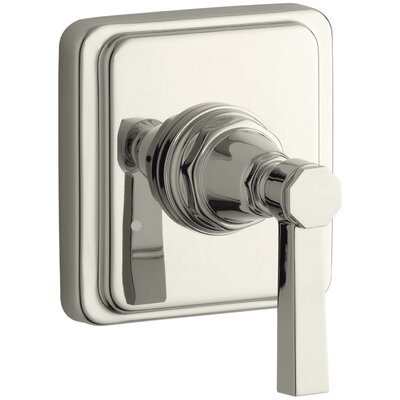 Pinstripe Valve Trim with Pure Design Lever Handle for Transfer Valve, Requires Valve Finish: Vibrant Polished Nickel