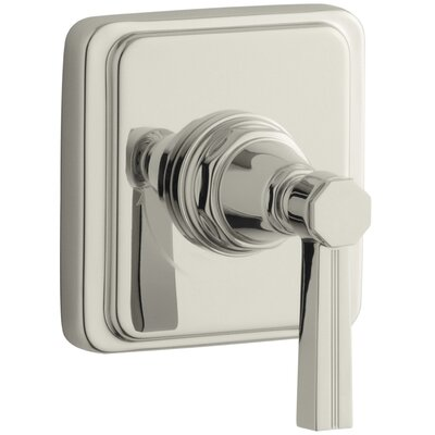 Pinstripe Valve Trim with Lever Handle for Volume Control Valve, Requires Valve Finish: Vibrant Polished Nickel