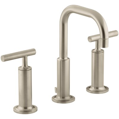 Purist Widespread Double Handle Bathroom Faucet with Drain Assembly Finish: Vibrant Brushed Bronze