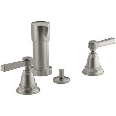 Pinstripe Vertical Spray Bidet Faucet with Lever Handles Finish: Vibrant Brushed Nickel