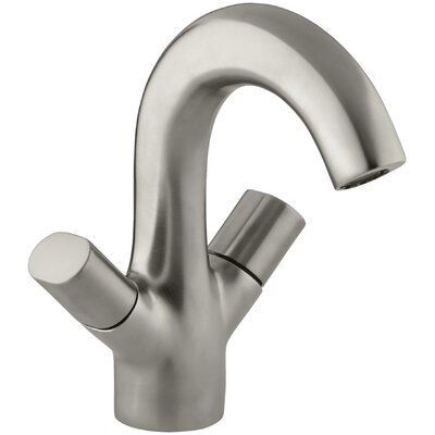 Oblo Single-Hole Monoblock Bathroom Sink Faucet Finish: Vibrant Brushed Nickel