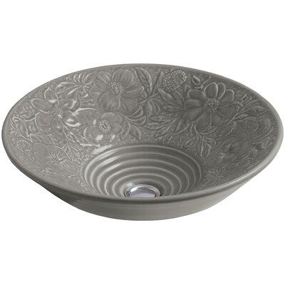 Waters Grove Ceramic Circular Vessel Bathroom Sink Sink Finish: Translucent Cashmere
