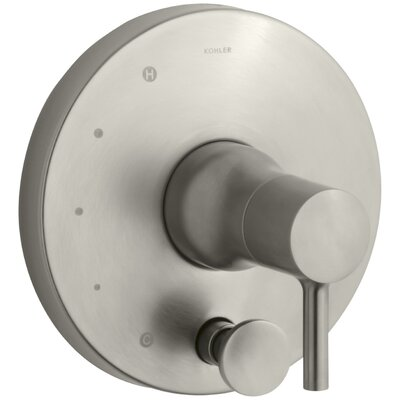 Toobi Rite-Temp Valve Trim with Diverter, Valve Not Included Finish: Vibrant Brushed Nickel K-T8979-4-BN