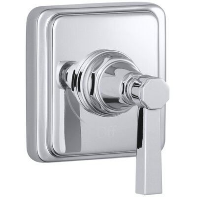 Pinstripe Valve Trim with Pure Design Lever Handle for Volume Control Valve, Requires Valve Finish: Polished Chrome