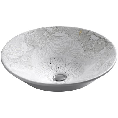 Empress Bouquet Circular Vessel Bathroom Sink