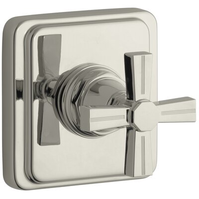 Pinstripe Valve Trim with Cross Handle for Transfer Valve, Requires Valve Finish: Vibrant Polished Nickel