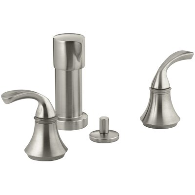 Fort� Vertical Spray Bidet Faucet with Sculpted Lever Handles Finish: Vibrant Brushed Nickel