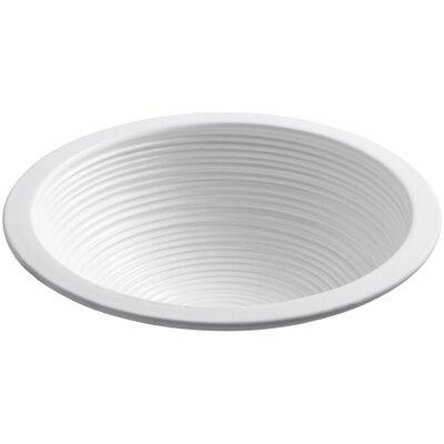 Camber Twirl Circular Undermount Bathroom Sink Sink Finish: White