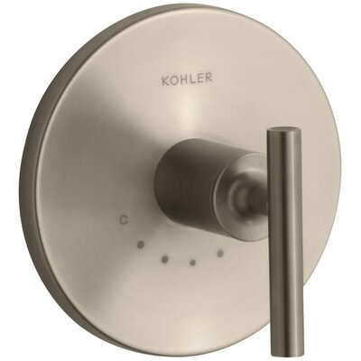 Purist Valve Trim with Lever Handle for Thermostatic Valve Finish: Vibrant Brushed Bronze