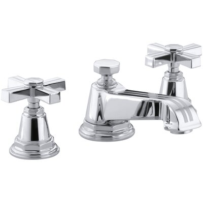 Pinstripe Widespread Bathroom Sink Faucet with Cross Handles Finish: Polished Chrome