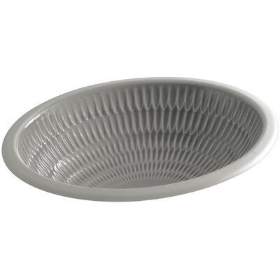 Artist Editions Ricochet Oval Undermount Bathroom Sink Sink Finish: Translucent Cashmere