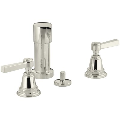 Pinstripe Pure Vertical Spray Bidet Faucet with Lever Handles Finish: Vibrant Polished Nickel