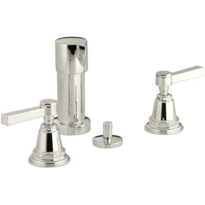 Pinstripe Vertical Spray Bidet Faucet with Lever Handles Finish: Vibrant Polished Nickel