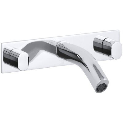 Oblo Wall-Mount Bathroom Sink Faucet Finish: Polished Chrome