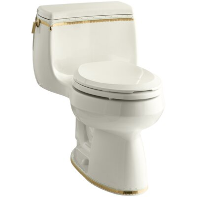 Prairie Flowers 1.28 GPF Comfort Height Elongated Toilet 1 Piece