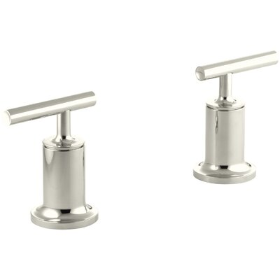 Purist Deck- or Wall-Mount High-Flow Bath Trim with Lever Handles Finish: Vibrant Polished Nickel