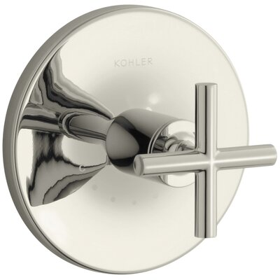 Purist Valve Trim with Cross Handle for Thermostatic Valve Finish: Vibrant Polished Nickel
