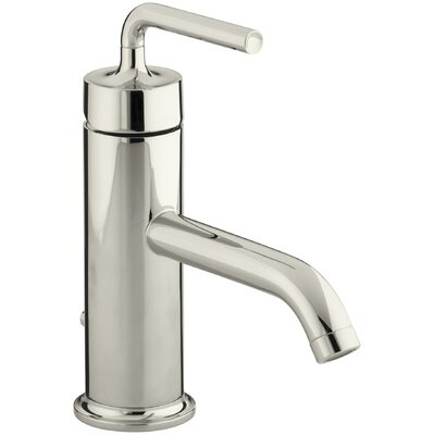 Purist Single-Hole Bathroom Sink Faucet with Straight Lever Handle Finish: Vibrant Polished Nickel