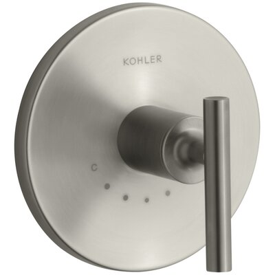 Purist Valve Trim with Lever Handle for Thermostatic Valve Finish: Vibrant Brushed Nickel