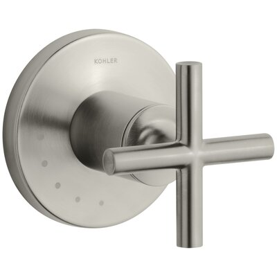 Purist Valve Trim with Cross Handle for Volume Control Valve Finish: Vibrant Brushed Nickel