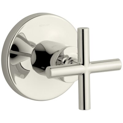 Purist Valve Trim with Cross Handle for Transfer Valve, Requires Valve Finish: Vibrant Polished Nickel