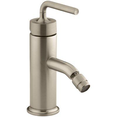 Purist Horizontal Swivel Spray Aerator Bidet Faucet with Straight Lever Handle Finish: Vibrant Brushed Bronze