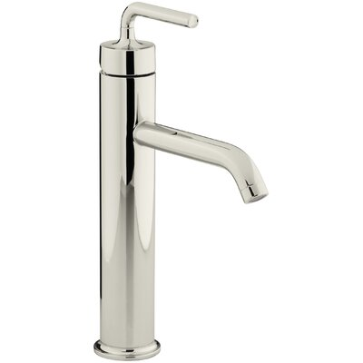 Purist Tall Single-Hole Bathroom Sink Faucet with Straight Lever Handle Finish: Vibrant Polished Nickel