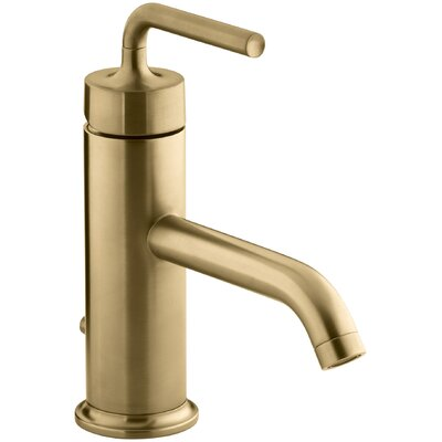 Purist Single-Hole Bathroom Sink Faucet with Straight Lever Handle Finish: Vibrant Moderne Brushed Gold