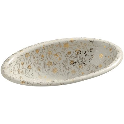 Mille Fleurs Self Rimming Bathroom Sink